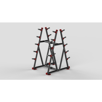 Barbell Rack Red 2