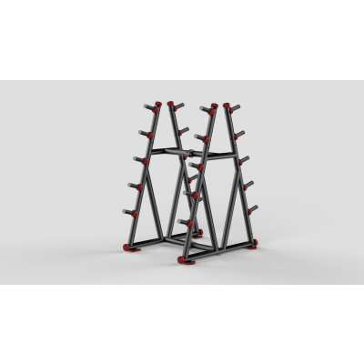 Barbell Rack Red