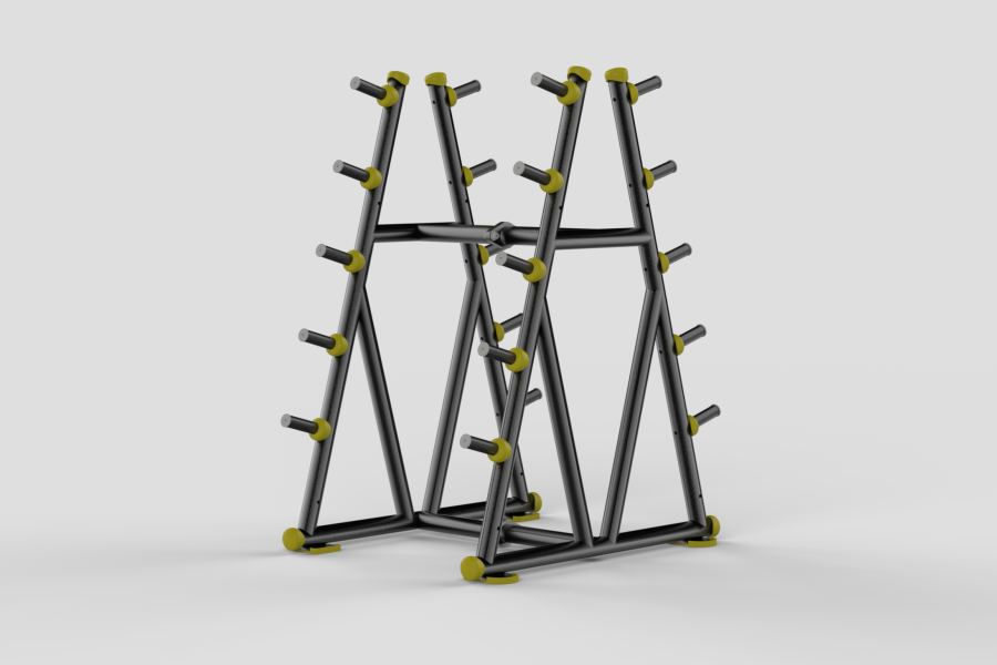 Barbell Rack Yellow 2