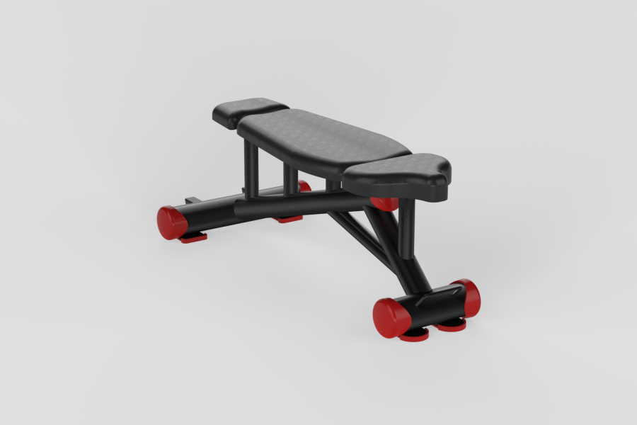 Flat Bench Red