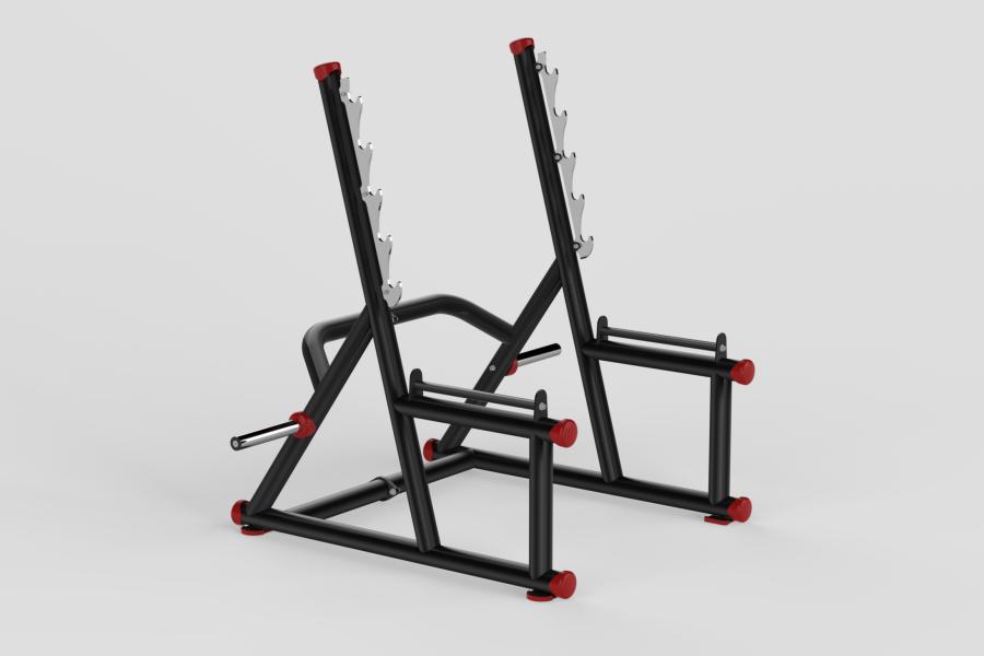 Squat Rack Red 2