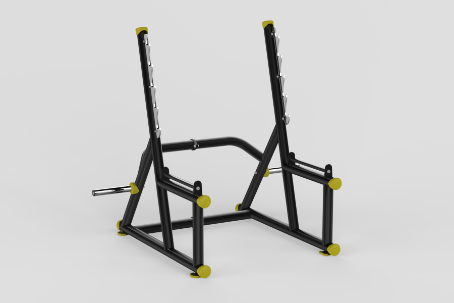 Squat Rack Yellow 2